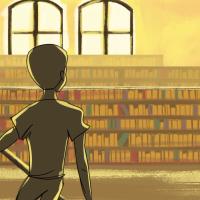 Анимирано видео за човекот кој буквално пораснал во библиотека!